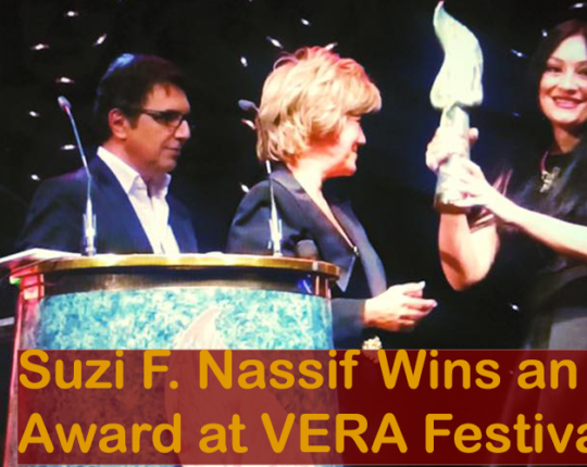 Suzi F. Nassif wins an award at VERA Festival-Proud moment for her fans worldwide!