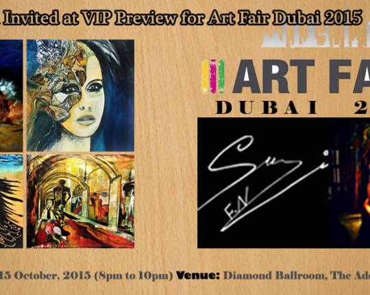 Suzi Invited at VIP Preview for Art Fair Dubai 2015