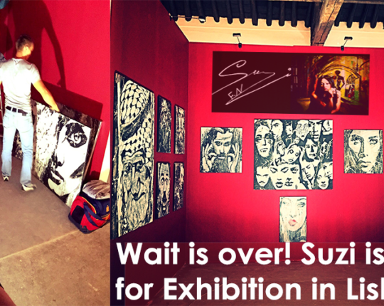Wait is over! Suzi is all set for Exhibition in Lisbon