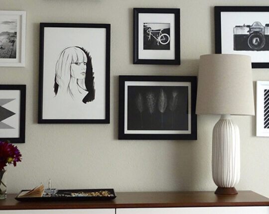 Impressive Gallery Wall under Limited Budget: